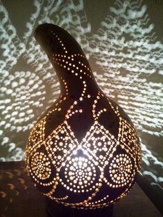 Su Kabağından Lamba Yapımı - Abajur ve Avize - Süs Kabağı ~ Türk el sanatları ve hobiler