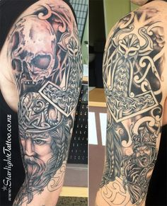 Viking sleeve tattoo