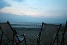Drink im Beachclub direkt am Strand. Am Stand von #Cuxhaven #Duhnen an der #Nordsee.