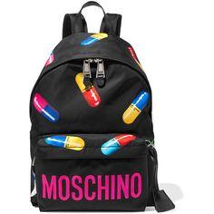 Moschino Printed shell backpack