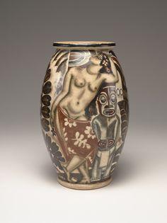 "René Buthaud  (French , 1886 - 1986)  ""Oceania"" Vase  ca. 1931  glazed and enameled stoneware"