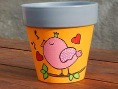 Mosaic Flower Pots, Clay Flower Pots, Clay Pots, Painted Plant Pots, Painted Flower Pots, Clay Pot People, Flower Pot Design, Decorated Flower Pots, Clay Pot Crafts