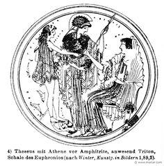 Theseus, Athena, Amphitrite. Wilhelm Heinrich Roscher (Göttingen, 1845- Dresden, 1923), Ausfürliches Lexikon der griechisches und römisches Mythologie, 1884.