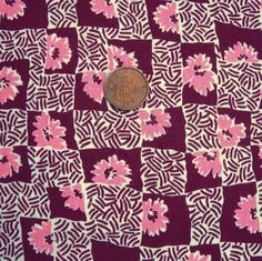 Vintage American Feed sack Cotton Fabric 1930 50's Patchwork Sewing Quilt Flower