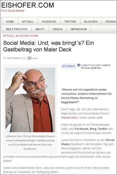 """""""Und, was bringt´s?"""" Mein Gastbeitrag zu den Social Media Skeptikern, im Blog von Astrid Eishofer"""