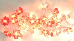 Spring Bloom Inspired Flower Lights.. these area so cute.. made from the bottom of soda bottles!!