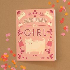 Congratulations Girl Baby Card