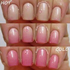 """Novel Nail Polish """"Summer Romance"""" thermal polish, i want one now Nail Polish Designs, Nail Polish Colors, Nail Art Designs, Mood Polish, Cute Nails, Pretty Nails, Mood Changing Nail Polish, Hair And Nails, My Nails"""