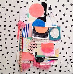 Abstract shapes and pattern great inspiration for textile design