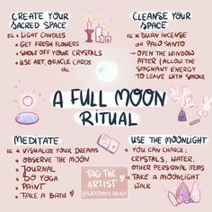 A full moon ritual meditation New Moon Rituals, Full Moon Ritual, Full Moon Spells, Wiccan Rituals, Full Moon Meditation, Wiccan Altar, Wiccan Decor, Wiccan Crafts, Wiccan Witch