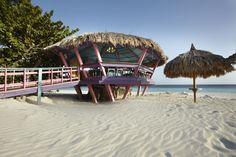 The Bunker Bar, one of my favorite resort beach bars.  Located at the Tamarijn Aruba.