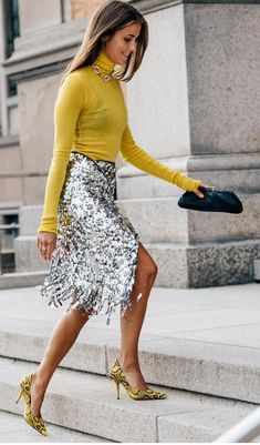 5 Trend-Forward Pieces You Need This Season – Box of Style outfits style summer teenage frauen sommer for teens outfits Skirt Outfits, Sexy Outfits, Fashion Outfits, Womens Fashion, Sequin Skirt Outfit, Sequined Skirt, Summer Outfits, Look Fashion, Autumn Fashion
