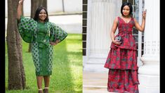 African Print Dresses, African Fashion Dresses, Ankara Skirt And Blouse, Ankara Styles, High Neck Dress, Queen, Stylish, Skirts, Design