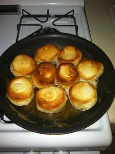 I've had this recipe for a few years now. I got it on a camping trip with some of my buds one summer :) Easy on a camp stove, easy on a home stove, hard on the cholesterol ;)   (which makes it even more yummy) Recipe: Pillsbury biscuits (in a tube) + Stick of butter + Heat + eat= :)
