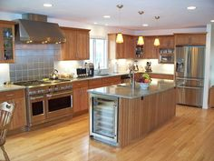 Kitchen with universal design features by McClurg Remodeling & Construction Services.