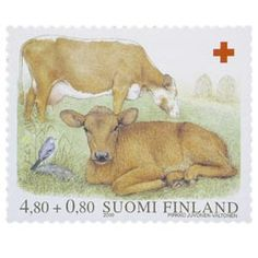 White Wagtail stamps - mainly images - gallery format Finland, Moose Art, Stamps, Gallery, Birds, Paper, Geology, Cows And Calves, Animales