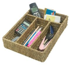 Buy the Seagrass Drawer Organiser from STORE Basketware today! A part of our Wicker & Seagrass Storage Baskets range. Side Table With Storage, Under Bed Storage, Storage Boxes, Storage Ideas, Seagrass Storage Baskets, Wicker Baskets, Stair Basket, Pantry Baskets, Vegetable Basket