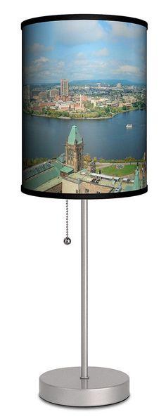 "Ottawa Cityscape in the Morning Light 20"" H Table Lamp"