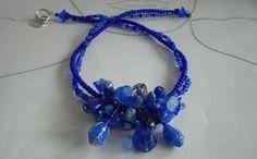 Glasperlenschmuck - Glasperlen Collier Oseye - ein Designerstück von sibea bei DaWanda