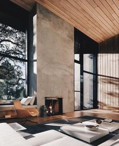 99 Fabouls Modern House Interior Ideas That You Must See 16 - topzdesign . Modern House Design, Modern Interior Design, Interior Ideas, Interior Designing, Interior Inspiration, Neoclassical Interior, Fireplace Design, Fireplace Wall, House In The Woods