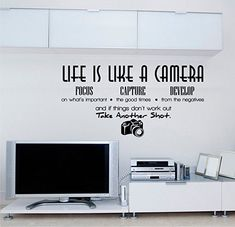 Life is like a camer Art stickers Home Modern, Life Is Like, Vinyl, Good Times, How To Remove, Workout, Quotes, Stickers, Art