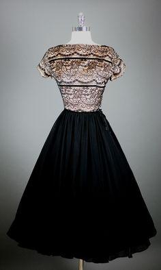 Vintage black lace and glamor
