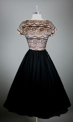 Vintage black lace and glamor