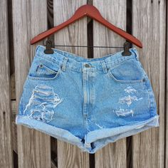 PLUS SIZE High Waisted Denim Shorts  High by TomieHarleneVintage, $20.99