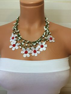 On SaleCrochet NecklaceWork Strand by NinnisGift on Etsy, $23.00