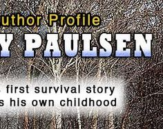 Gary Paulsen-author profile-p.1 Book Clubs, Book Club Books, Gary Paulsen, Writers And Poets, Author Studies, Fifth Grade, Great Books, Language Arts, Classroom Ideas