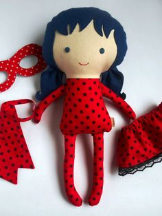 LADYBUG RAG DOLL toy inspired by Miraculous by LaLobaStudio: