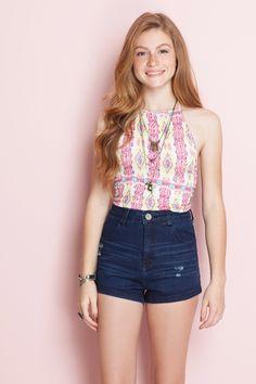 Short jeans cintura alta | Dress to