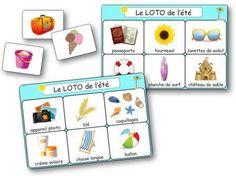 Jeu de loto à imprimer sur le thème de l'été et des vacances. Il se compose de 8 planches à imprimer et de 48 cartes. Loto pour les enfants de maternelle et le cycle 2. loto été