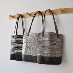 SM TOTES - triangles, rain, lines from bookhou