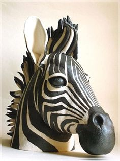 Zebra by Lesley Anne Greene, a ceramicist from the UK.