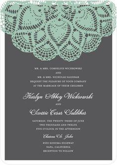 Wedding Invitations - Vintage Lace