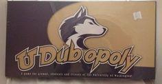 UDubopoly UW Huskies Board Game Sealed New University Of Washington  #WashingtonHuskies