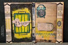 Moje (wy)twory: Art Journal - Time Travel