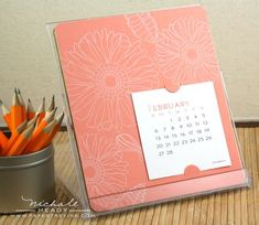 Calendar in Case by Nichole Heady for Papertrey Ink (September 2010)
