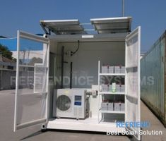 Solar Power Container Cold Room, Find Details about Solar Power Cold Room, Container Cold Room from Solar Power Container Cold Room - Nantong Refriend Ice Systems Co. Container Buildings, Container Architecture, Container Houses, House Architecture, Solar Power Energy, Solar Energy System, Photovoltaic Cells, Solar Projects, Best Solar Panels