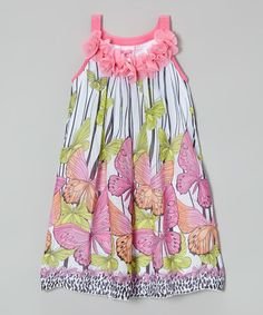 This Pink Butterfly Yoke Dress - Toddler & Girls by Lipstik Girls is perfect! #zulilyfinds