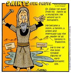 Sabas was born at Mutalaska, Cappadocia, near Caesarea. He was the son of an… Saints For Kids, All Saints Day, Catholic Saints, Roman Catholic, Happy Feast Day, Saints Game, Catholic Online, Religious Education, Catechism