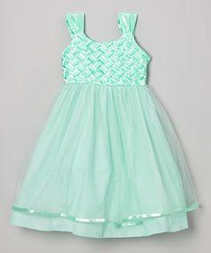 Love this Mint Weave Dress - Girls on #zulily! #zulilyfinds
