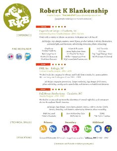 Creative Resume Inspiration - several resume layouts from designyourway.net
