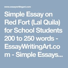 simple essay on generation gap for school and college students  simple essay on red fort lal quila for school students 200 to 250 words
