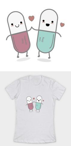 Happiness in a pill! Grab this brilliant kawaii/chibi inspired cute t-shirt design for children, women and men. Comes in all colours and styles. Link down below.