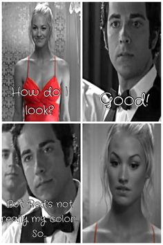 Chuck and Sarah, after bryce told him that he shouldn't be falling for her. CHUCK BARTOWSKI = BUCKET O SASS