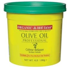 Organic Root Stimulator Olive Oil Relaxer, Normal Strength 4lb tub -- Find out @