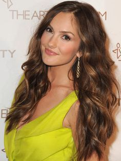Mega ManesBetween plaits, ponytails, and larger-than-life buns, ladies with extra-long locks know that the options are endless for dressing up their strands. So, choose the look that suits you (and your dress!) the best. We're crushing on Minka Kelly's siren style (seen here) but also covet Taylor Swift's girly updo.