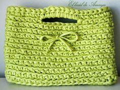 El baúl de Amaya: Bolso de trapillo en verde